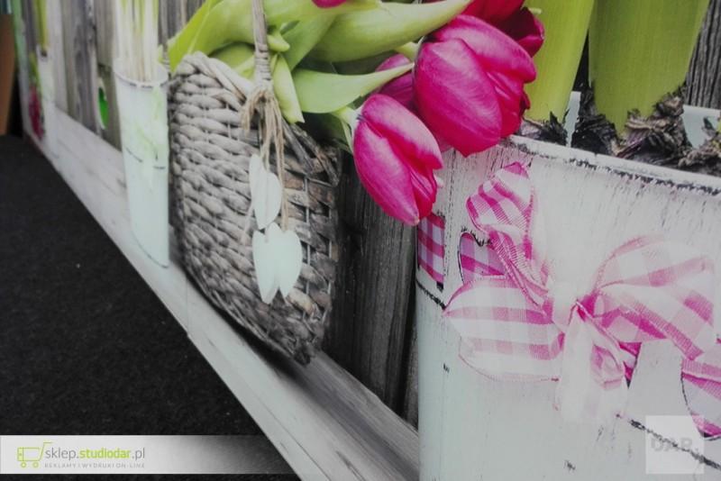 Druk UV na szkle do kuchni - tulipany